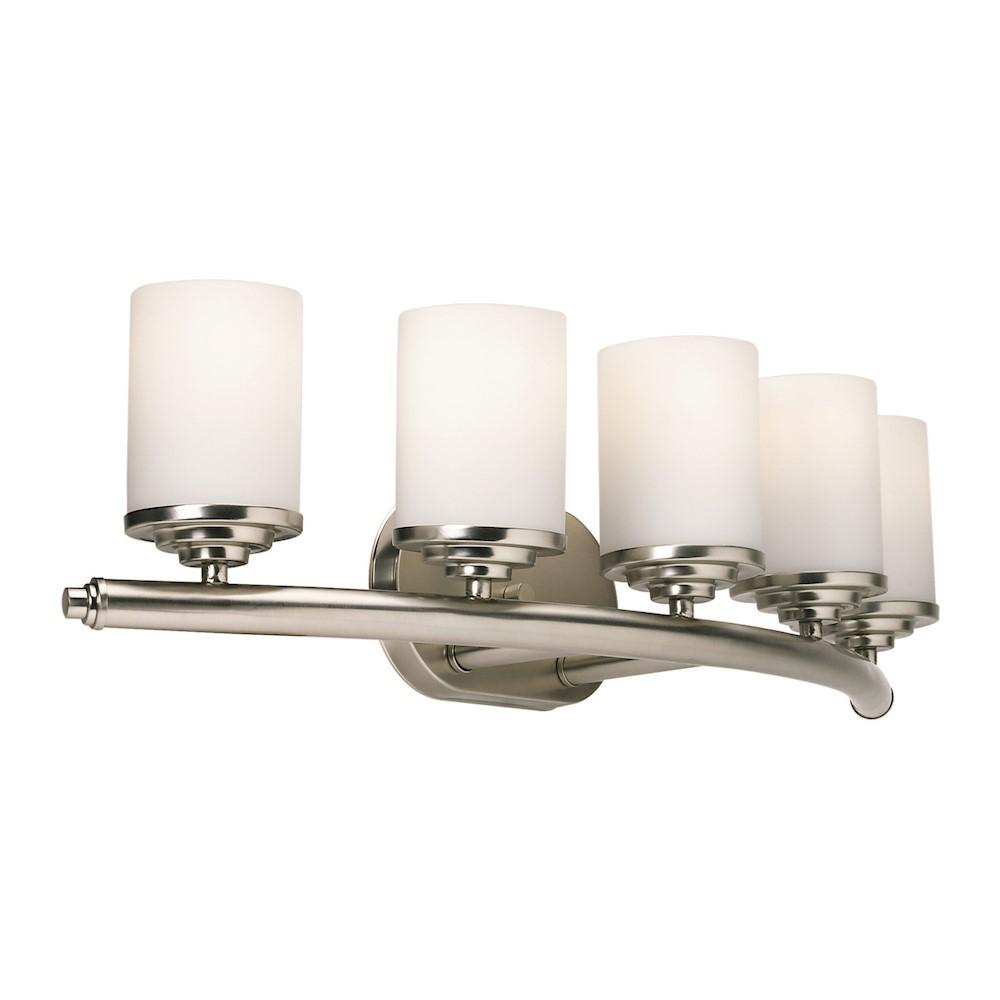 Forte Lighting 5 Light Bathroom Vanity Light In Brushed Nickel 5105 05 55: Forte Lighting